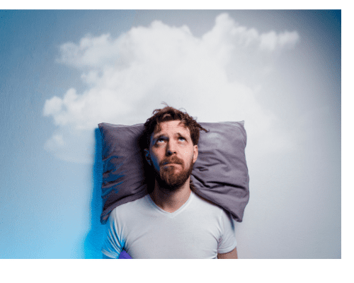 man finding it difficult to sleep- I will help you with insomnia